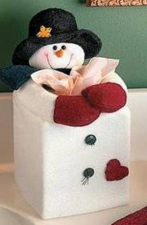 Funny gifts for Co-workers - Tissue Cover Snowman