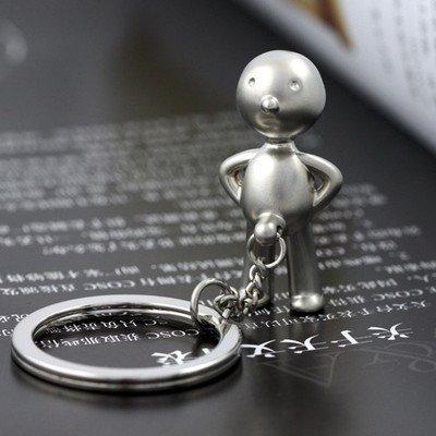 White Elephant Gift Ideas - Classic Keychain Creative Mr.p Boy Key Ring Fob Sex Erect Funny Gift