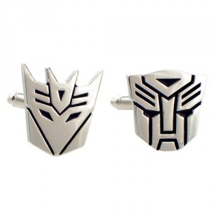 Autobot and Decepticon cuff links Transformer Cufflinks