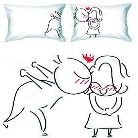 BoldLoft A Big Kiss Couple Pillowcases