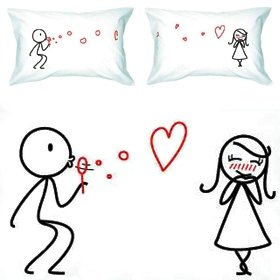 BoldLoft From My Heart to Yours Couple Pillowcases