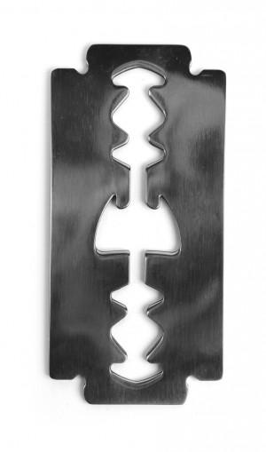 Kikkerland Razor Blade Stainless Steel Bottle Opener