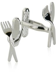 Knife and Fork Cufflinks by Cuff-Daddy