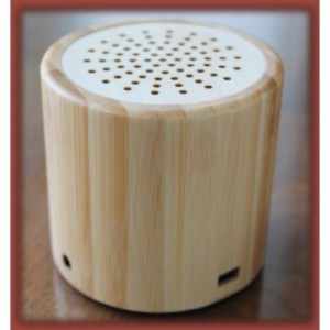 Natural Bamboo Wood Portable Wireless Bluetooth Mini Speaker