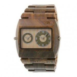 Wewood Men's Limited Edition Jupiter Army Dual Movement Wooden Watch
