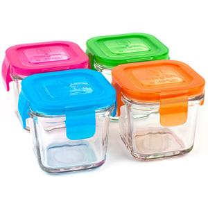 4-Pack Wean Cubes Glass Food Containers