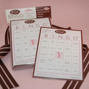 Bridal Shower Gift Bingo Game