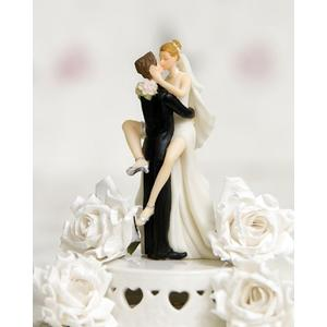 Funny Sexy Wedding Bride and Groom Cake Topper