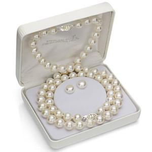 Genuine Cultured Freshwater High Luster Pearl necklace and bracelet set