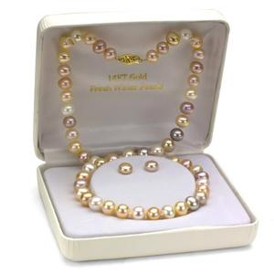 Genuine Multi-color Pink Freshwater Pearl Necklace for her birthday