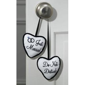 Just Married Do Not Disturb Door Hanger