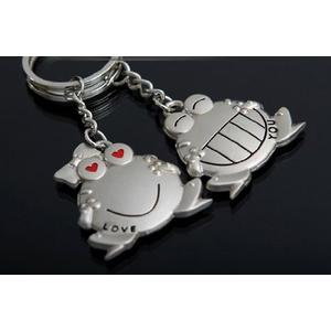 Lover couple Key Ring Chain frog