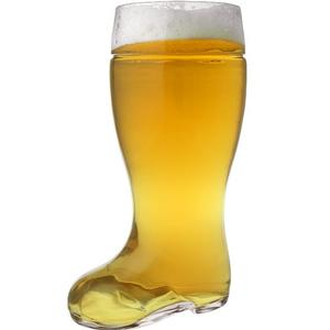 Oktoberfest Style Glass Beer Boot Stein