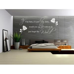 Romantic Wall Quote Bedroom Vinyl Wall Decals