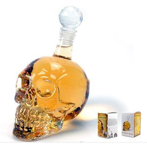Skull wine decanter