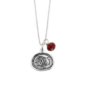 Sterling silver pendant with carnation flower