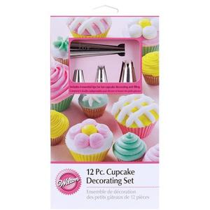 Wilton 12-Piece holiday Cupcake Decorating Set