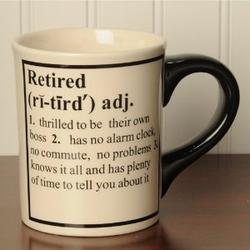 Retired Definition Occupational Mugs