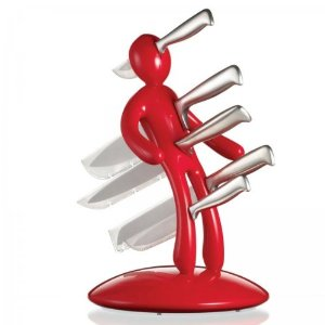 Knife set holder makes perfect housewarming gift