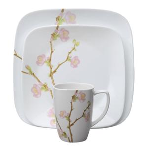 Beautiful flower decorated dinnerware set for housewarming presents