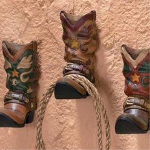 Cowboy Boots Western Coat Towel Wall Hooks