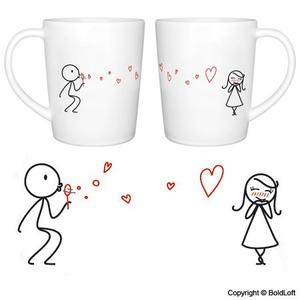 From my heart to you couple mug