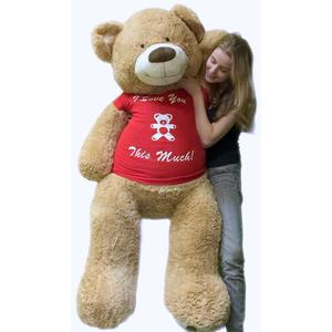 Lifesize valentines day teddy bear