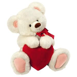 Lovely teddy bear plush toy with red heart