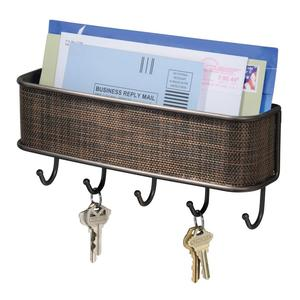 Wall Mount Mail and Key Rack