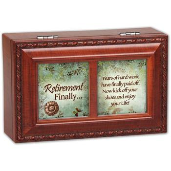 Cottage Garden Retirement Finally Woodgrain Petite Music Box