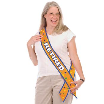Retired Satin Sash Party Accessory