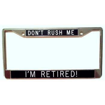 Retirement gift car plate number