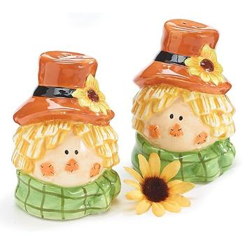 Scarecrow Head Salt n Pepper Shakers for holiday gift