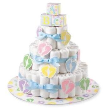 Diaper cake gift idea for new mom