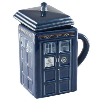 Doctor Who Figural Tardis Mug Make 2014 Perfect white elephant gift