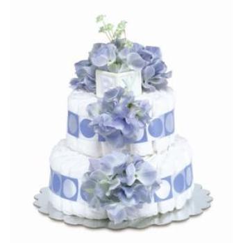 Fancy diaper cake gift for new mom