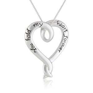 Beautiful pendant for valentine with you hold my heart engraving