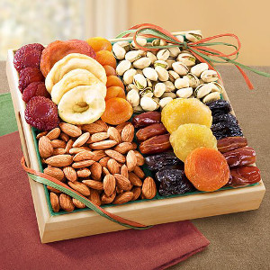Fruit gift basket ideas - Pacific Coast Classic Dried Fruit Tray Gift