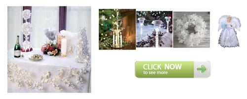 Picture of White Christmas Theme Party Decoration Ideas
