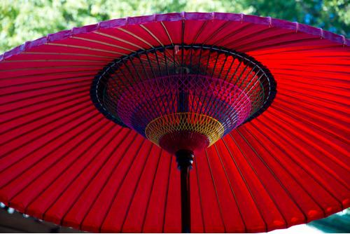 Romantic parasol for bridal shower party
